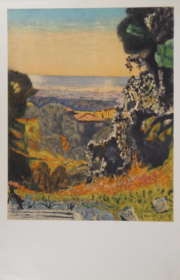 (after) Pierre Bonnard Landscape Print - Landscape in Provence - Lithograph (Mourlot 1956)