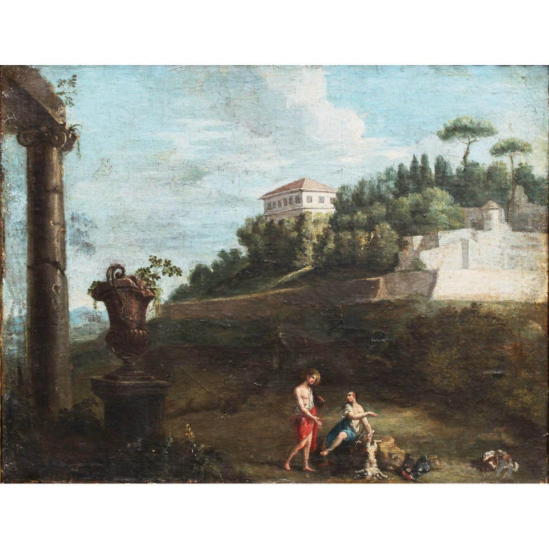 School of Pieter van Bloemen (Flemish, 1657-1720) oil on Canvas