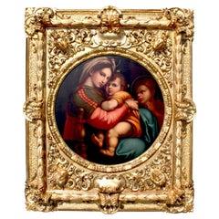 After Raffaello Sanzio 1483-1520 Raphael La Madonna della Seggiola Oil on Canvas