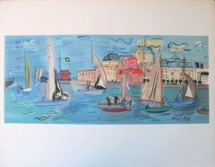 Sailboats - Lithograph (Mourlot)