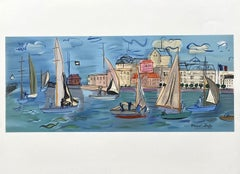 Sailboats - Lithograph Signed in the Plate (Mourlot)