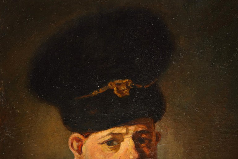 (After) Rembrandt, A Polish Nobleman, Oil on Canvas Painting, 19th Century 5