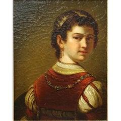 "After Rembrandt van Rijn, Dutch (1609-1669) Oil on canvas ""Saskia"""