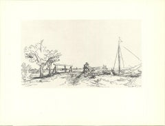 "van Rijn Rembrandt-Six's Bridges-8"" x 10.5""-Poster-1968-Black & White"