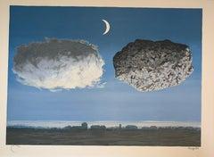 La Bataille de l'Argonne - 20th Century,Surrealist, Lithograph, Figurative Print