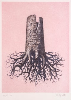 La Folie Almayer ou L'Arbre Rose - Original Etching After René Magritte - 1968