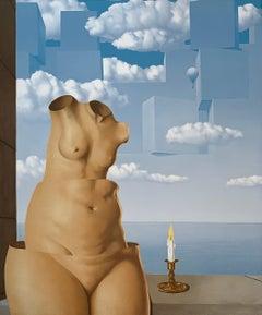 La Folie des Grandeurs II -20th Century, Surrealist, Lithograph,Figurative Print