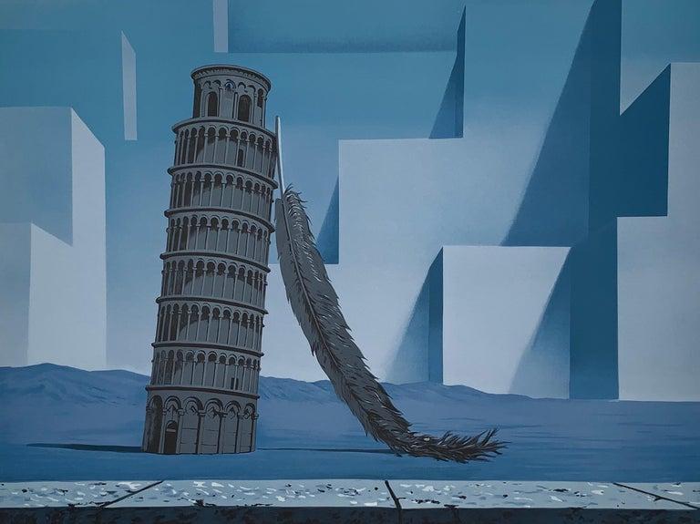 La Nuit De Pise - 20th Century,Surrealist, Lithograph, Figurative Print For Sale 1