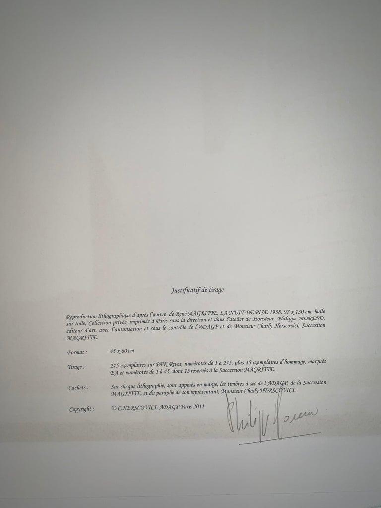 La Nuit De Pise - 20th Century,Surrealist, Lithograph, Figurative Print For Sale 3