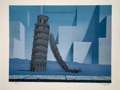 La Nuit De Pise - 20th Century,Surrealist, Lithograph, Figurative Print