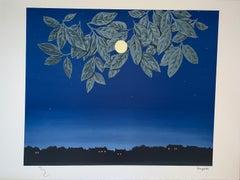 La Page Blanche - 20th Century,Surrealist, Lithograph, Figurative Print