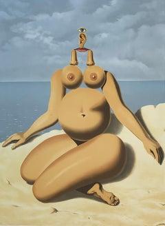 La Race Blanche - 20th Century, Surrealist, Lithograph, Figurative Print