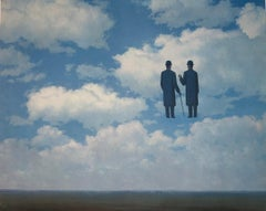 La Reconnaissance Infinie - 20th Century, Surrealist, Lithograph, Figurative Pri