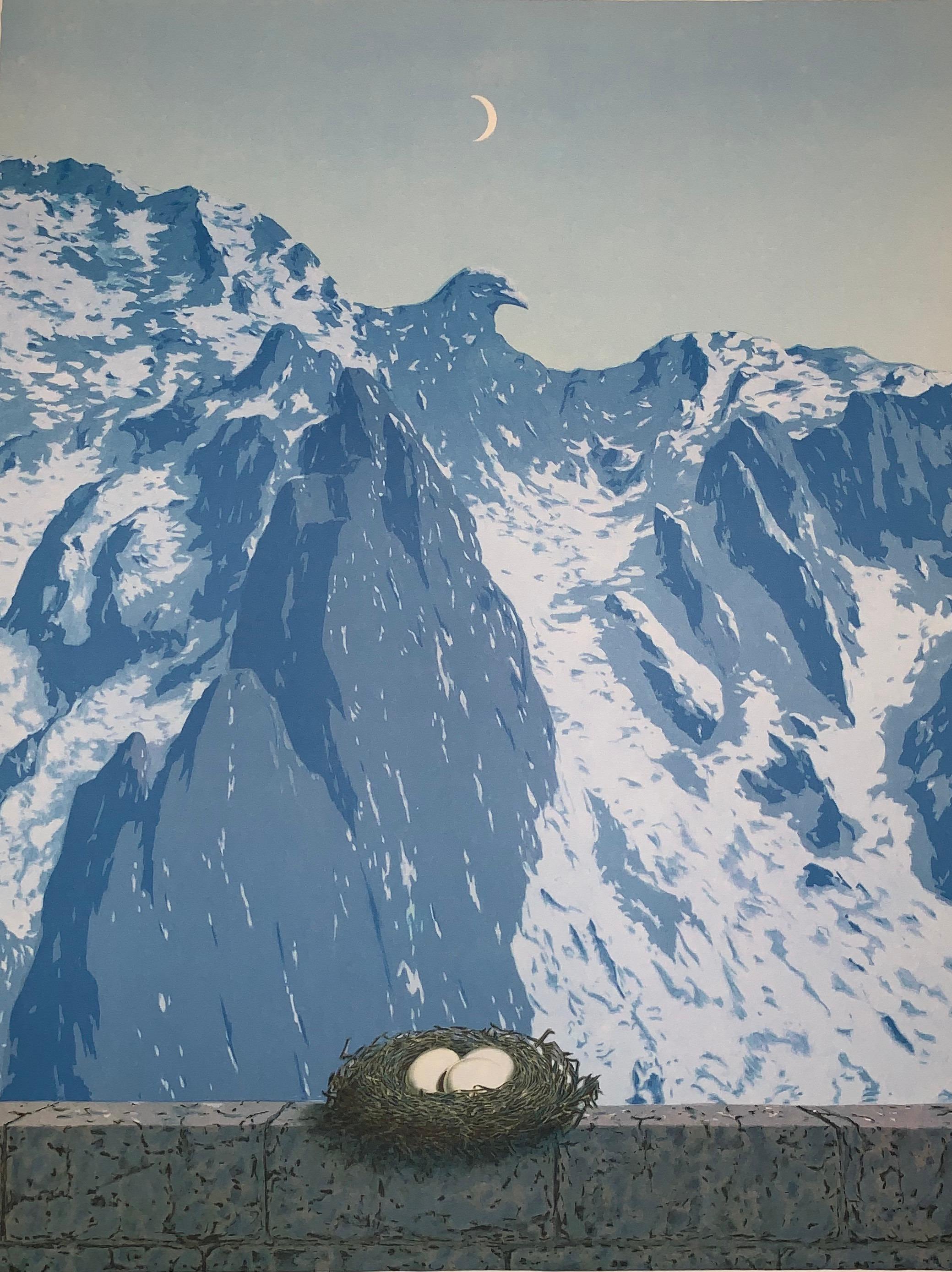 Le Domaine d'Arnheim - 20th Century, Surrealist, Lithograph, Figurative Print