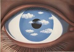 Le Faux Miroir - 20th Century, Surrealist, Lithograph, Figurative Print