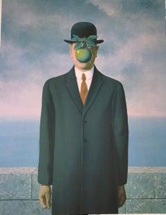 Le Fils de l'Homme - 20th Century, Surrealist, Lithograph, Figurative Print