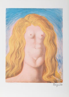 Le Viol, Surrealist Lithograph after Magritte