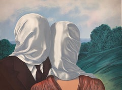 Les Amants- 20th Century, Surrealist, Lithograph, Figurative Print