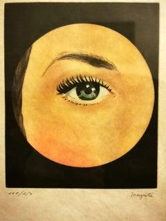 L'Oeil - Original Etching After René Magritte - 1968