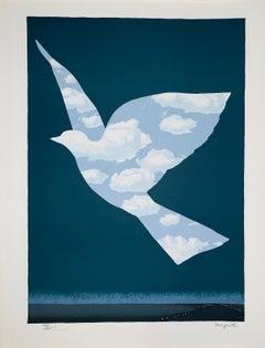 L'Oiseau De Ciel - 20th Century,Surrealist, Lithograph, Figurative Print