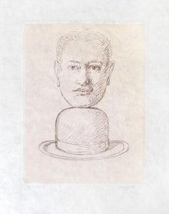 RENÉ MAGRITTE Homme au Chapeau Melon Limited ed. Etching & Aquatint  Surrealism