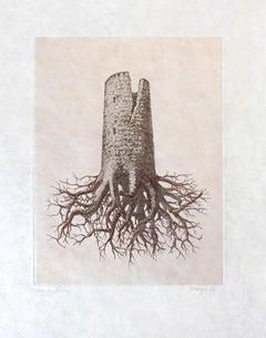 RENÉ MAGRITTE - La Folie Almayeur - Limited ed. Etching & Aquatint  Surrealism
