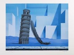 RENÉ MAGRITTE - LA NUIT DE PISE, 1958 - Limited edition Lithograph - Surrealism