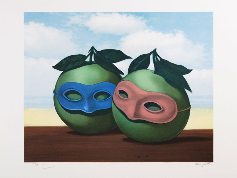 (after) René Magritte Figurative Print - RENÉ MAGRITTE - La valse hesitation - Limited edtiion Lithograph - Surrealism