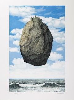 RENÉ MAGRITTE - LE CHATEAU DES PYRÉNÉES, 1959 Limited ed. Lithograph Surrealism