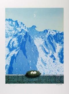RENÉ MAGRITTE - Le domaine d'Arnheim - Limited edition Lithograph Surrealism