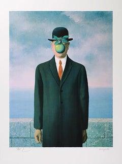 RENÉ MAGRITTE - Le fils de l'homme - Limited ed. Lithograph Surrealism