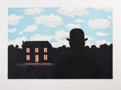RENÉ MAGRITTE L'EMPIRE DES LUMIÈRES, 1964 Limited ed. Lithograph - Surrealism