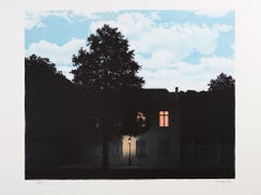 RENÉ MAGRITTE L'empire des lumières Limited edition Lithograph - Surrealism