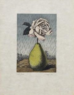 Untitled - Original Etching After René Magritte - 1968