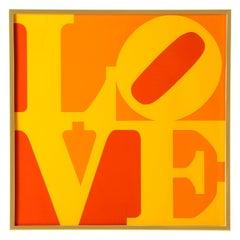 After Robert Indiana, Golden Love, Screenprint, Serigraph