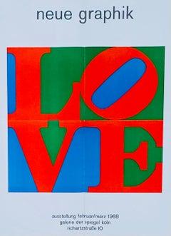 Robert Indiana Man Ray exhibition poster 1968 (Robert Indiana LOVE)