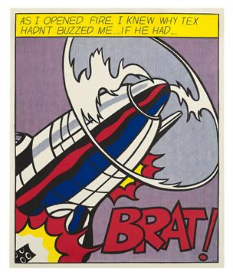 Museum-Published Lt'd Ed. 60's Litho Set of 'As I Opened Fire' - Print by (after) Roy Lichtenstein