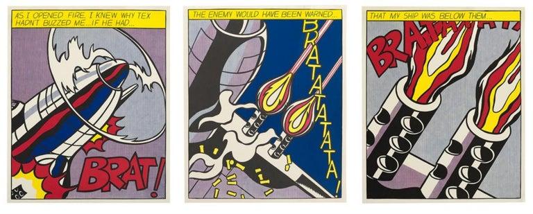(after) Roy Lichtenstein Landscape Print - Museum-Published Lt'd Ed. 60's Litho Set of 'As I Opened Fire'