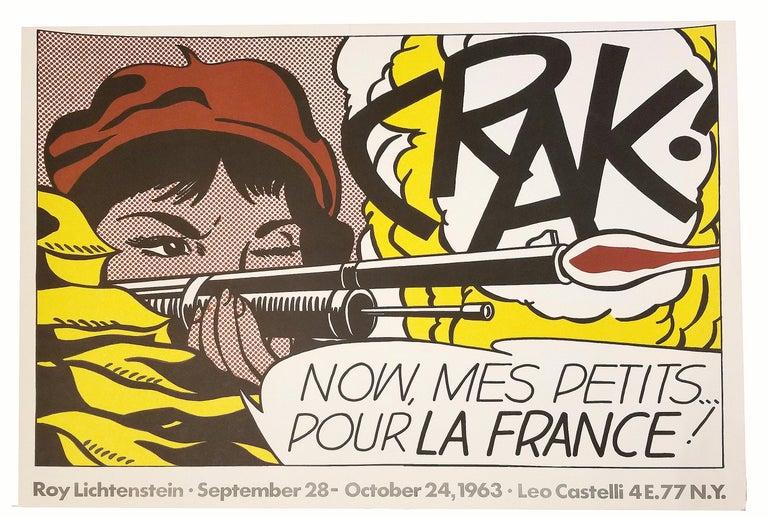 CRAK! Now, Mes Petits... Pour La France!             - Print by (after) Roy Lichtenstein