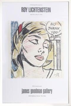"Exhibition poster ""Roy Lichtenstein: A Drawing Retrospective"" at James Goodman"