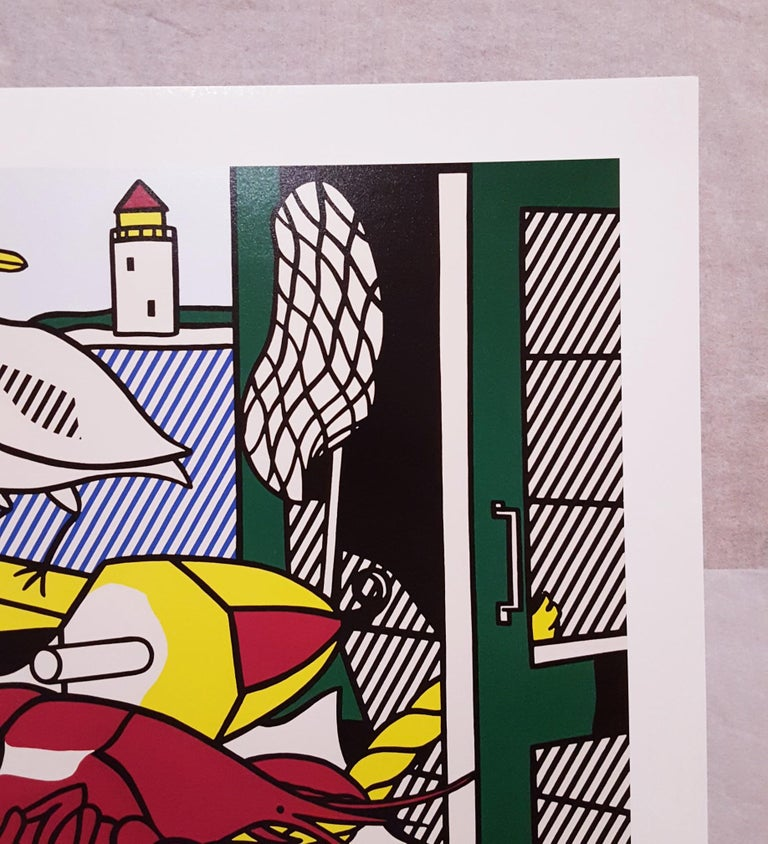 An original offset-lithograph, exhibition poster on smooth wove paper after American artist Roy Lichtenstein (1923-1997) titled