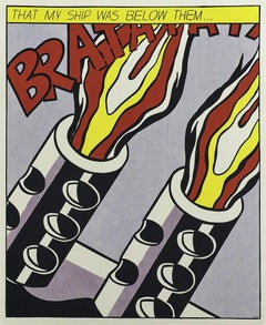 Roy Lichtenstein As I Opened Fire set of 3 lithographs