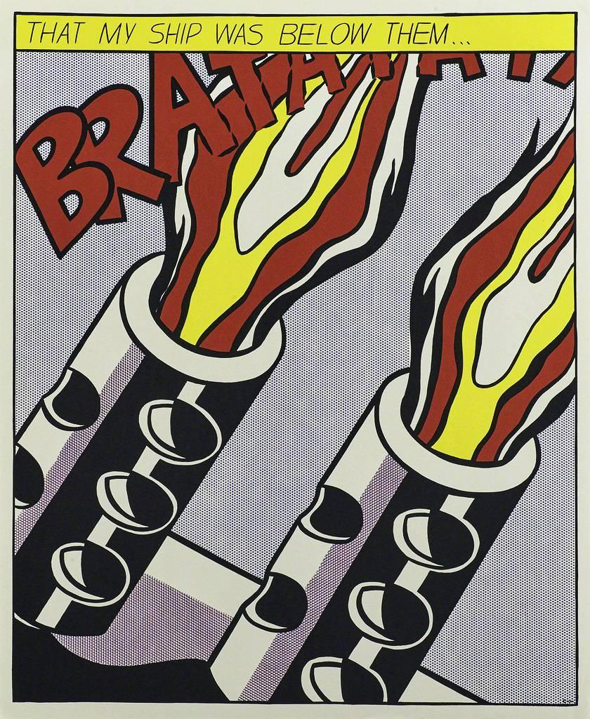 Roy Lichtenstein As I Opened Fire (set of 3 lithographs)