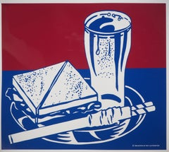 Sandwich and Soda - Screen Print on Rhodoid (MoMA)