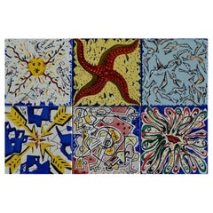 "After Salvador Dali ""La Suite Catalane"" Set of 6 Dali Tiles, 1954"