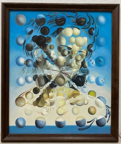 "Contemporary Acrylic ""Galatea of the Spheres"" Painting After Dali 21st Century"