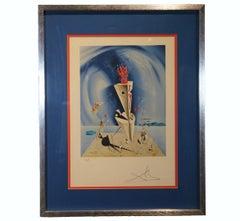 """Apparatus and Hand"" Surrealist Salvador Dali Lithograph Print"