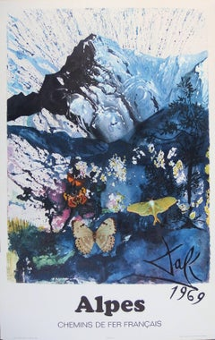 Butterfly suite : Les Alpes - lithograph - Tall size, 1969