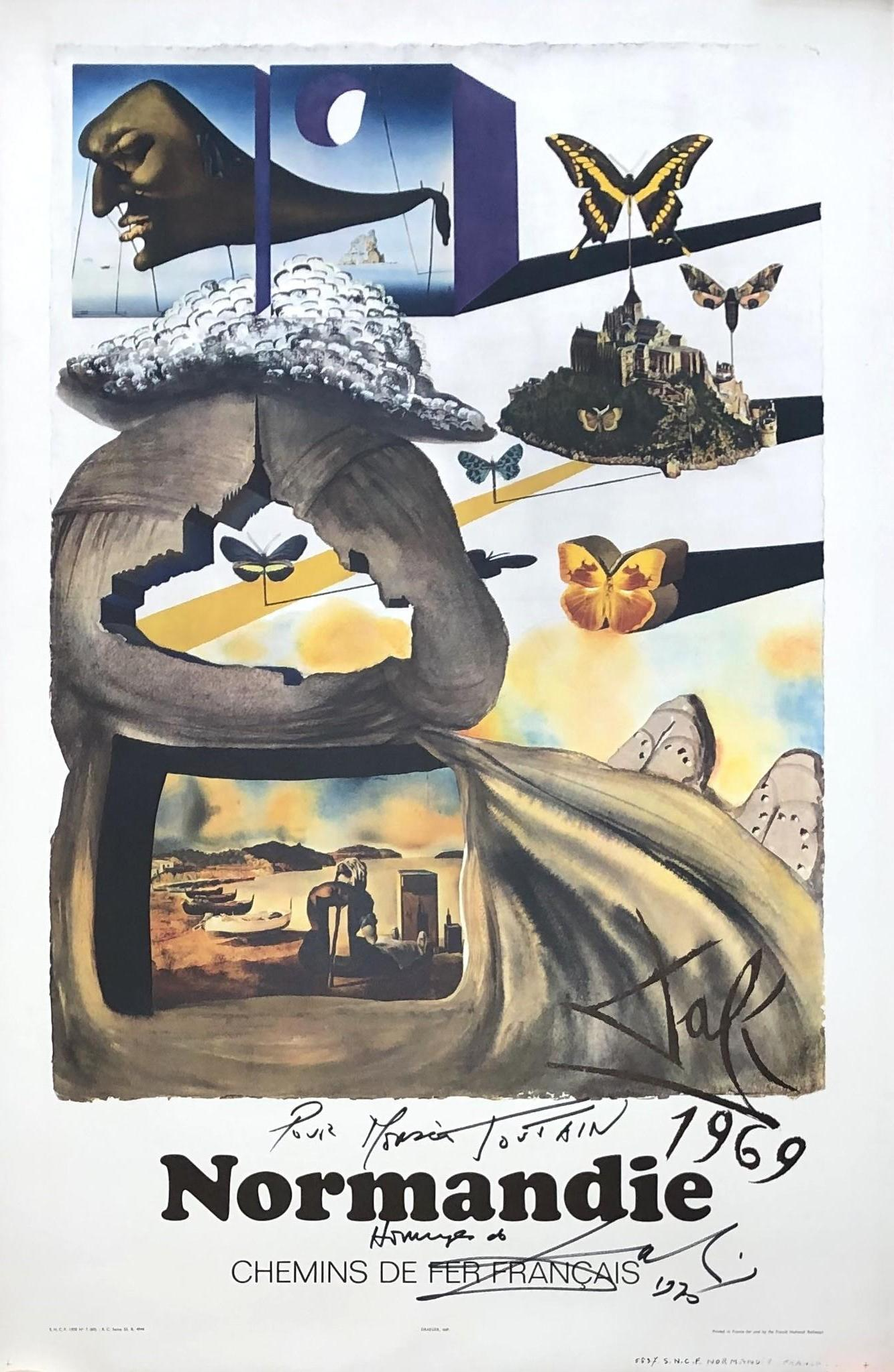 ButterFly Suite : Normandy Lithograph - Handsigned and Dedicated - Tall Size