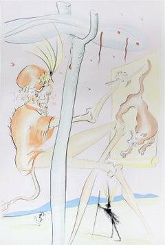 Le Singe et le Léopard, Limited Edition Engraving, Salvador Dali
